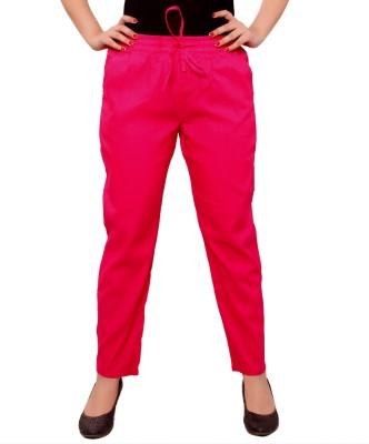 A&K Slim Fit Women's Pink Trousers