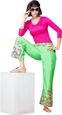 Saree Exotica Regular Fit Women's Green Trousers