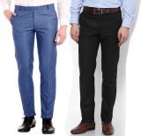 AD & AV Regular Fit Men's Blue, Black Tr...
