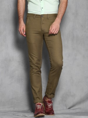 WROGN Slim Fit Men's Brown Trousers