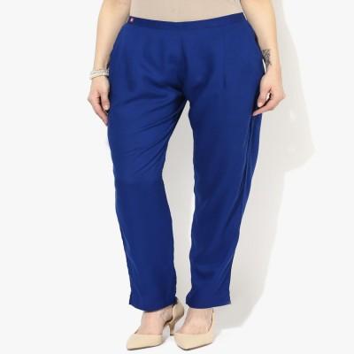 shree Regular Fit Women's Blue Trousers