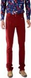Bendiesel Slim Fit Men's Red Trousers