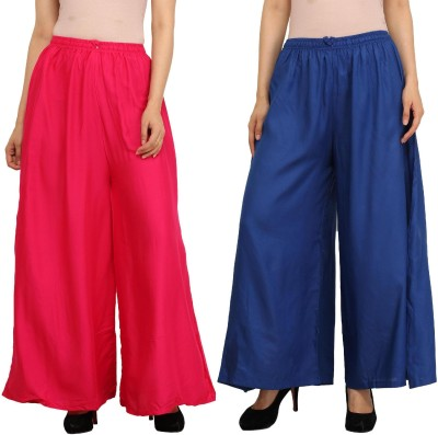 Guru Nanak Fashions Regular Fit Women's Pink, Blue Trousers