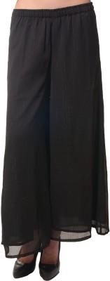 Meira Regular Fit Women's Black Trousers