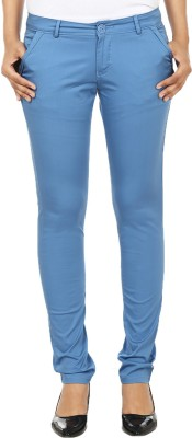 Ur Sense Regular Fit Women's Blue Trousers