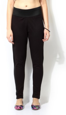 Akkriti by Pantaloons Regular Fit Women's Black Trousers at flipkart