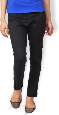 Riot Jeans Regular Fit Women's Black Trousers