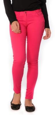 Oviya Skinny Fit Women's Pink Trousers
