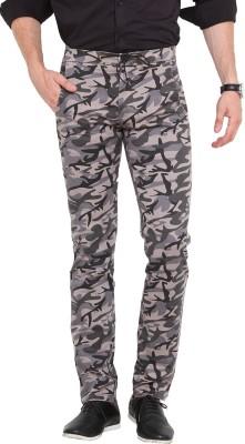 Exitplay Slim Fit Men's Grey, Beige Trousers