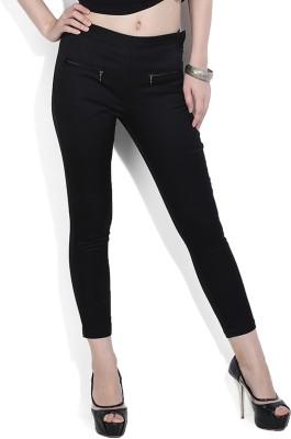 Chemistry Regular Fit Women's Black Trousers