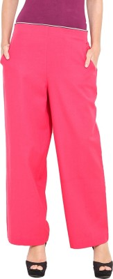 Pryma Donna Regular Fit Women's Pink Trousers