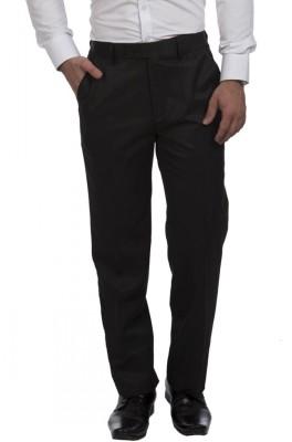 JHON DIEGO Regular Fit Men's Black Trousers