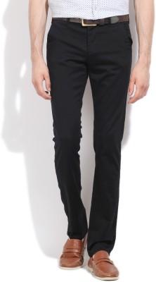 Integriti Slim Fit Men's Black Trousers