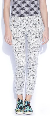 Kook N Keech Disney Regular Fit Women's White Trousers