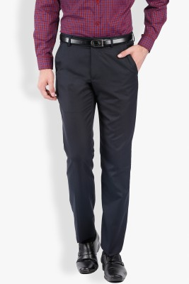 Black Coffee Regular Fit Men's Blue Trousers