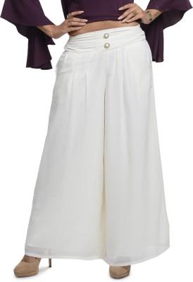 A Luv Ya Regular Fit Women's Cream Trousers