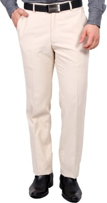 Febulous Slim Fit Men's Beige Trousers