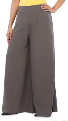 Navyou Regular Fit Women's Grey Trousers