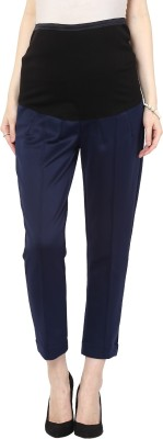 Mamacouture Regular Fit Women's Blue Trousers