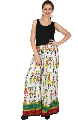Vastraa Fusion Regular Fit Women's Green, Red, Yellow Trousers