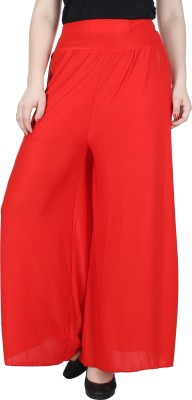 Broadstar Regular Fit Womens Red Trousers