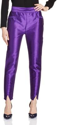 Atayant Regular Fit Women's Purple Trousers