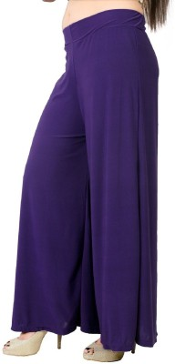 Edge Plus Regular Fit Women's Purple Trousers