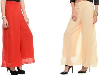 Kyron Regular Fit Women,s Beige, Red Trousers