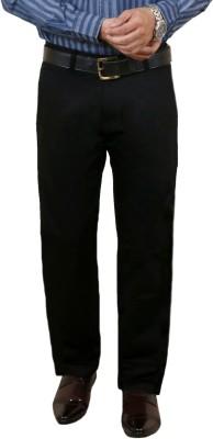 Zrestha Slim Fit Men's Black Trousers