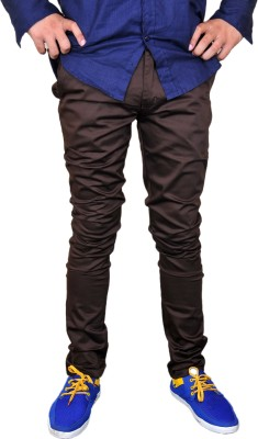 Nation Polo Club Slim Fit Men's Brown Trousers