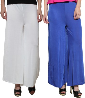 Both11 Regular Fit Womens Blue, White Trousers