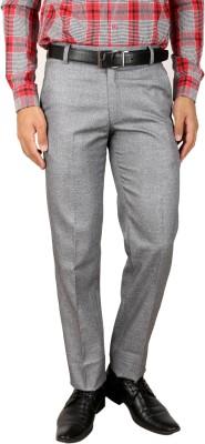 Larwa Fashion Regular Fit Men's Silver Trousers