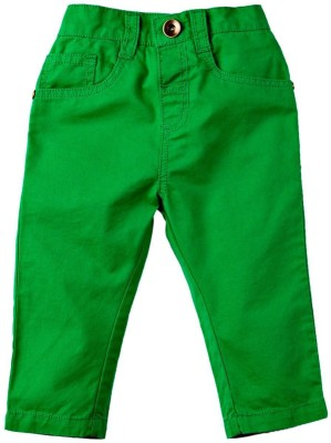 Mom & Me Regular Fit Boy's Green Trousers