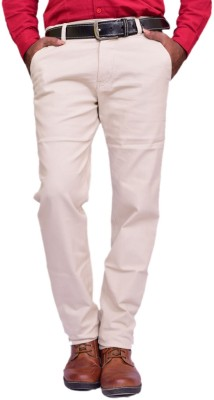 British Terminal Skinny Fit Men's White Trousers