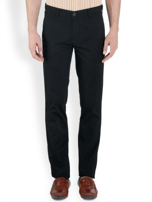 ColorPlus Regular Fit Men's Black Trousers