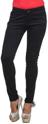 Hash 69 Slim Fit Women's Black Trousers
