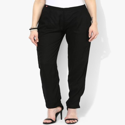 shree Regular Fit Women's Black Trousers