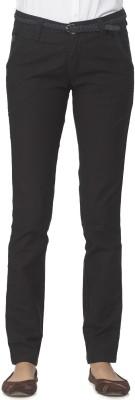 Ixia Slim Fit Women's Black Trousers