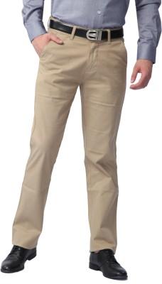Sparky Regular Fit Men's Cream Trousers