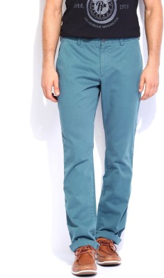 French Connection Regular Fit Men's Blue Trousers