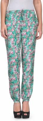 Kiosha Slim Fit Women's Pink, Green Trousers