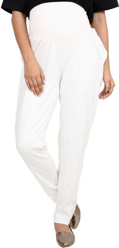 9teen Again Regular Fit Women's White Trousers
