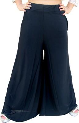 CrazeVilla Regular Fit Women's Black Trousers