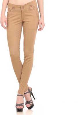 Laura Dennis Slim Fit Women's Gold Trousers