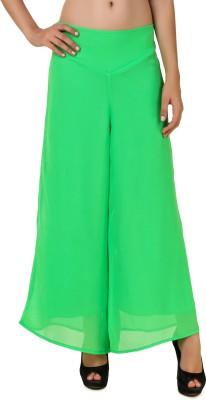 CHIKFAB Regular Fit Women's Green Trousers