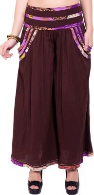 Tuntuk Regular Fit Women's Brown Trousers