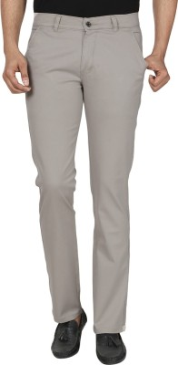 Own Voice Regular Fit Men's White Trousers