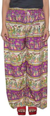 Shreeka Regular Fit Women's Purple, White Trousers