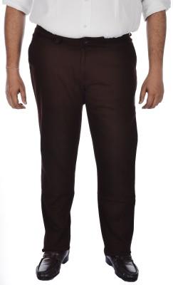 ASABA Regular Fit Men's Brown Trousers