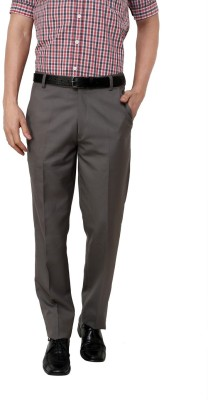 Zeco Regular Fit Men's Grey Trousers